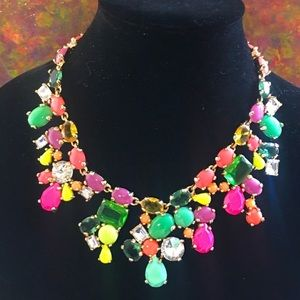 Fantasy Couture Candy Neon Crystal Necklace Cara